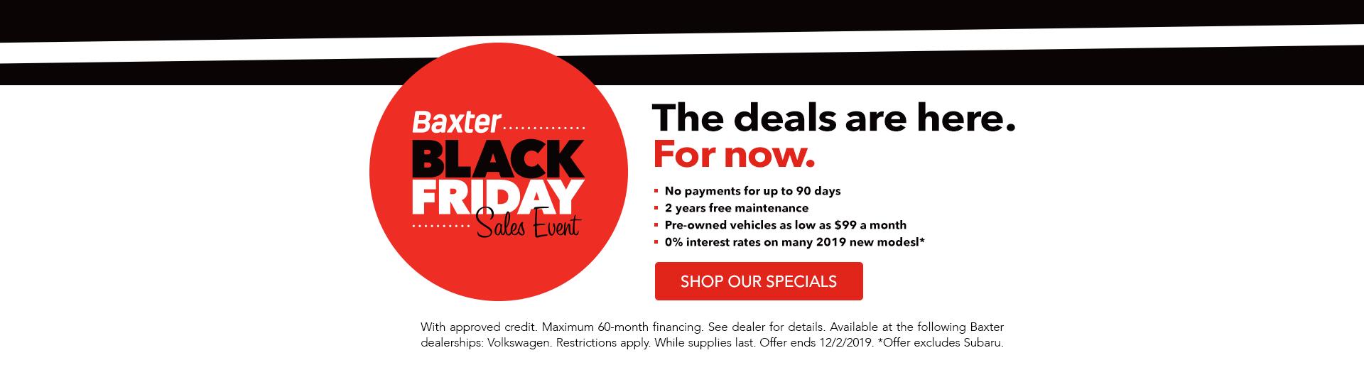 Baxter Black Friday Sales Event