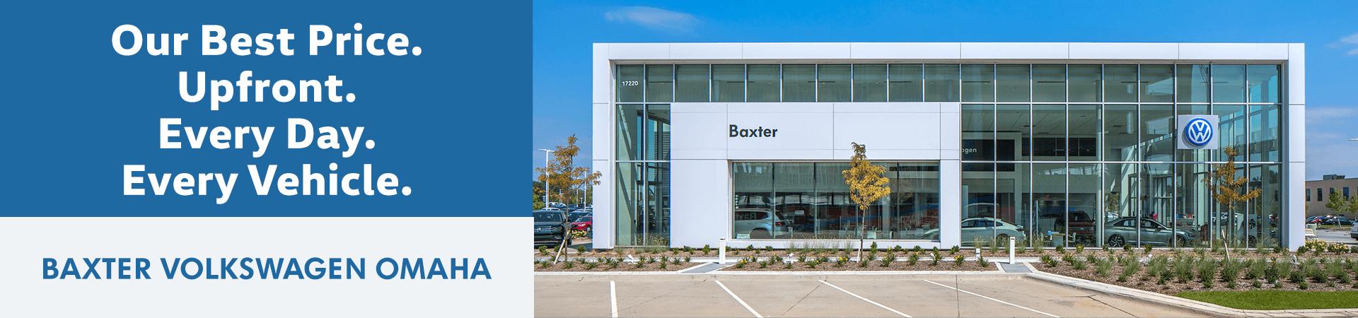 Baxter Volkswagen Omaha | Upfront Pricing