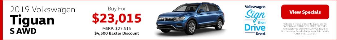 2019 Volkswagen Tiguan S AWD