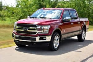 Ford F-150 driving