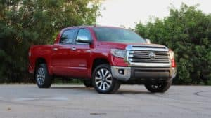 2018 Toyota Tundra in a parking lot