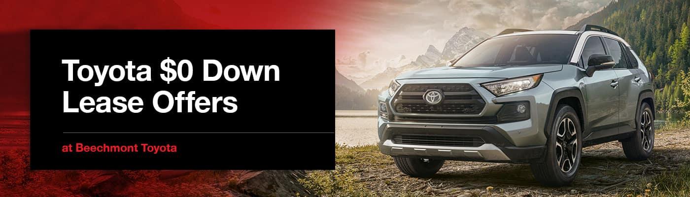 Toyota $0 Down Lease Offers in Cincinnati