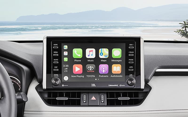 2019 Toyota RAV4 Apple CarPlay Infotainment Display
