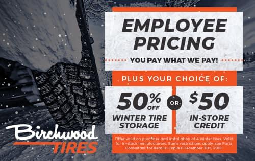 Employee Pricing Winter Tires WInnipeg