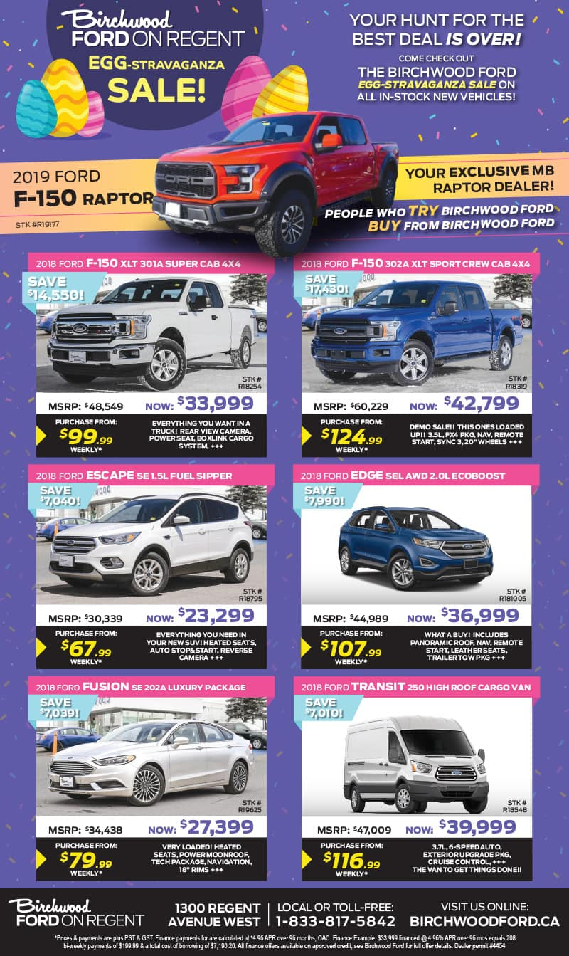 Birchwood Ford Current Ads