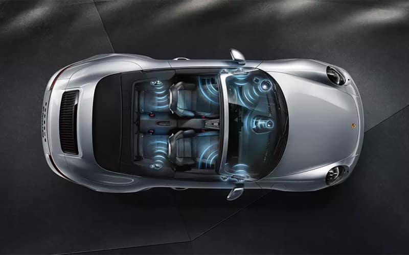 Porsche 911 Burmester High-End Surround Sound System