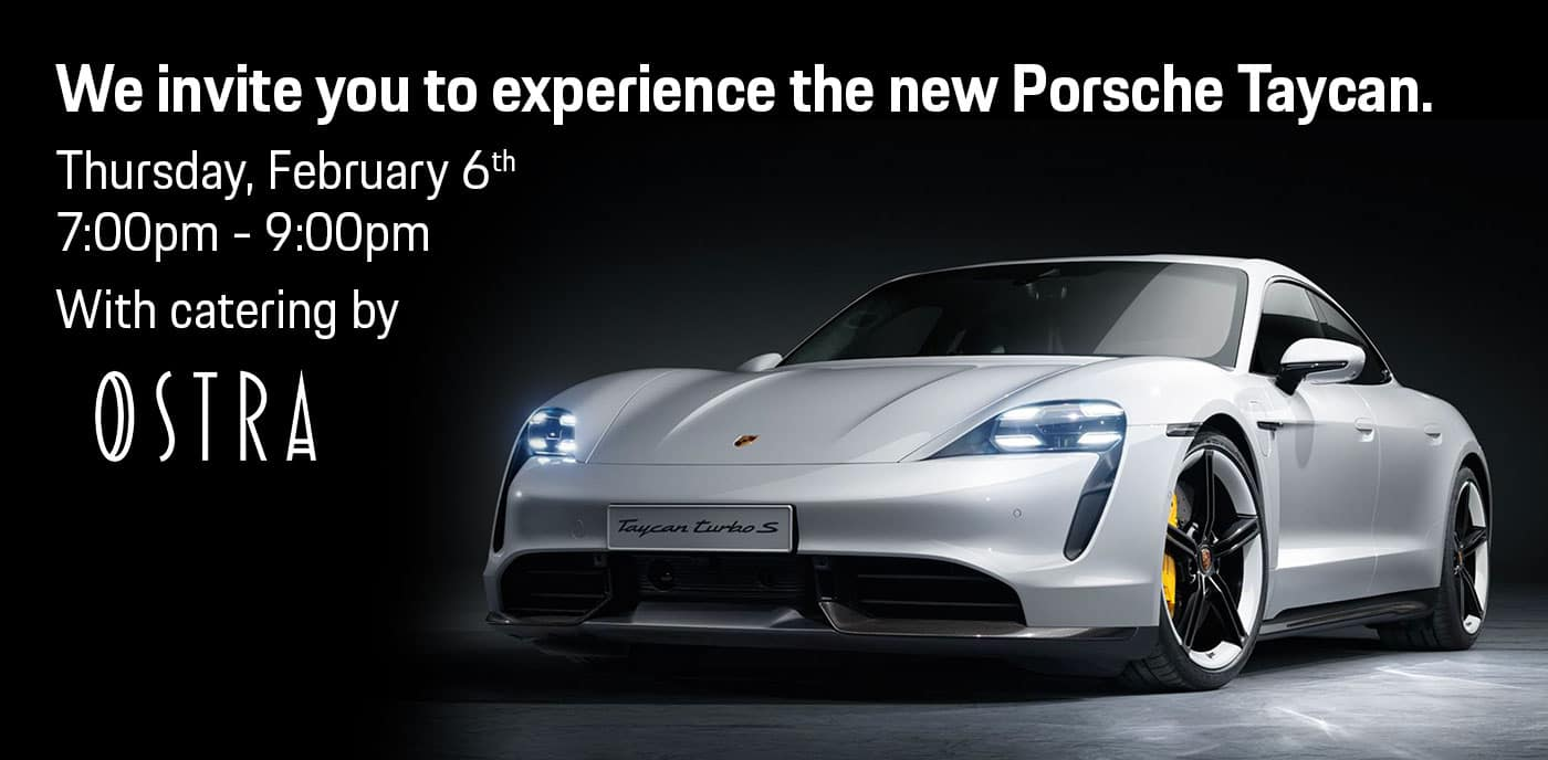 We invite you to experience the new Porsche Taycan at Blue Grass MOTORSPORT