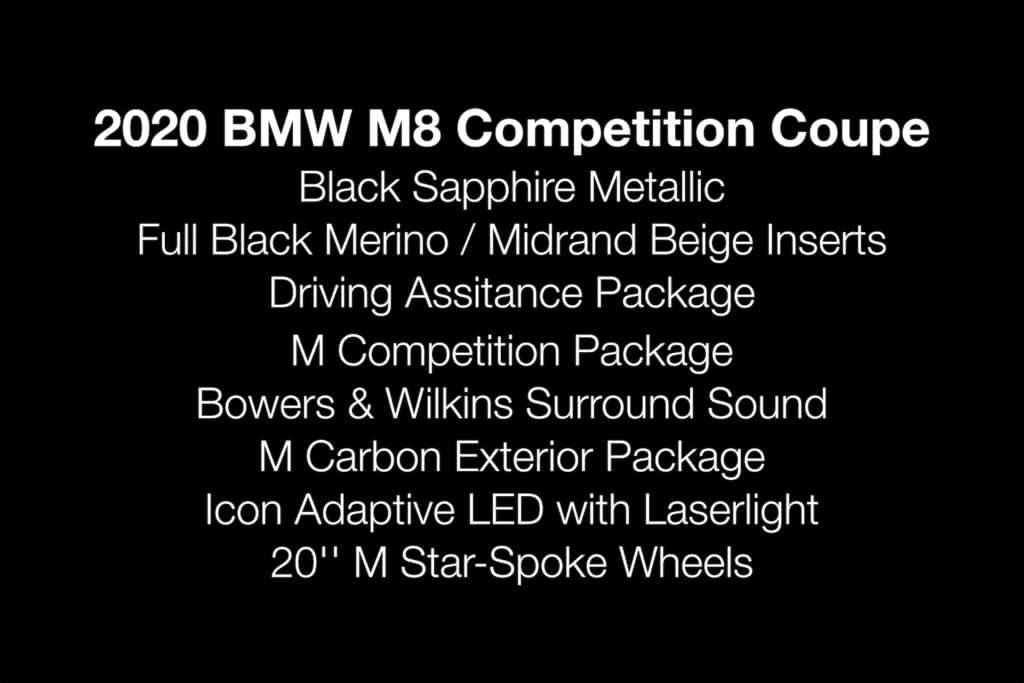 M8 Comp Coupe Specs