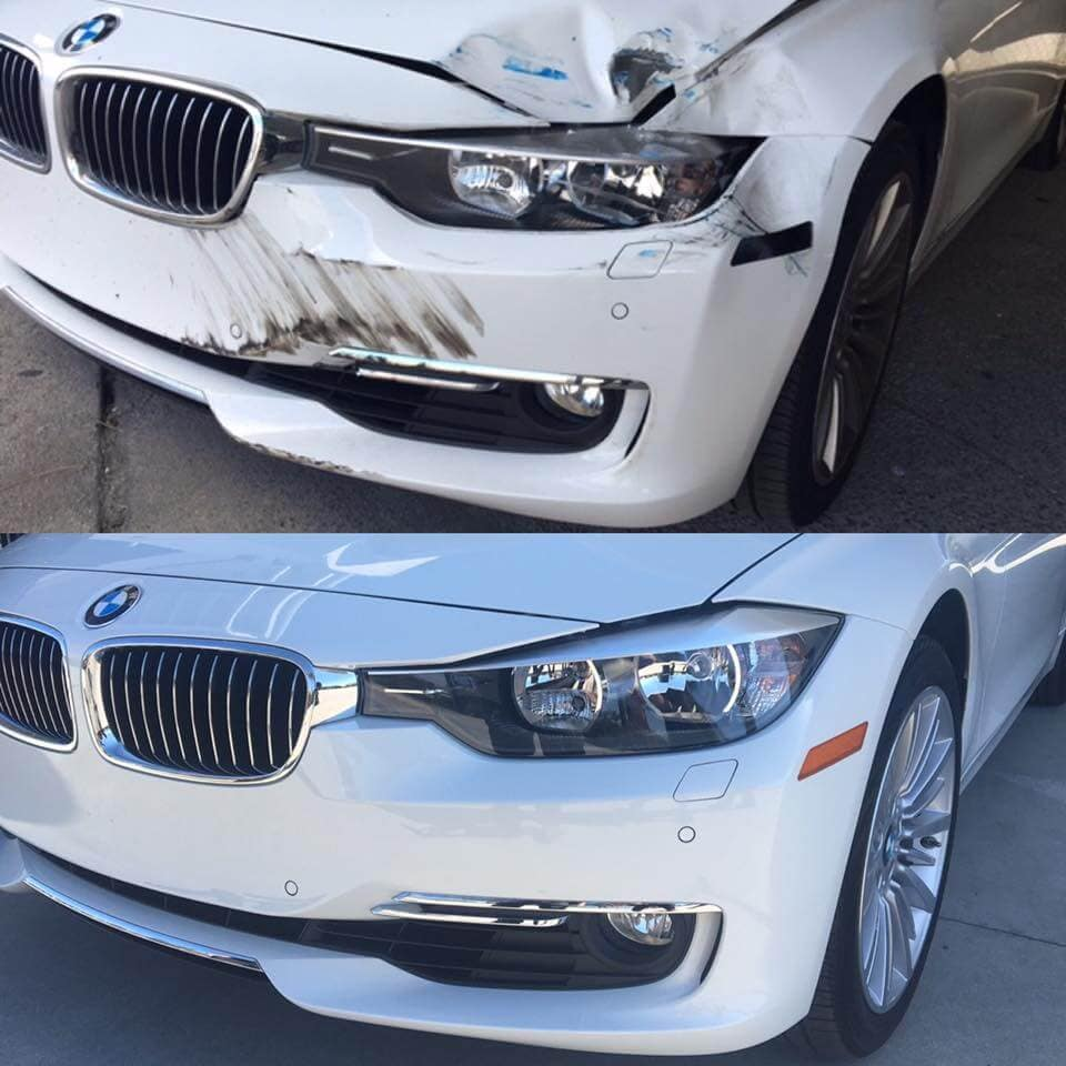 Dent repair for front collision.
