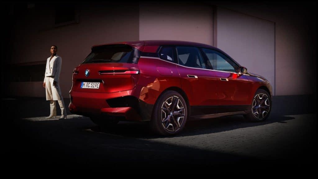 Red BMW iX