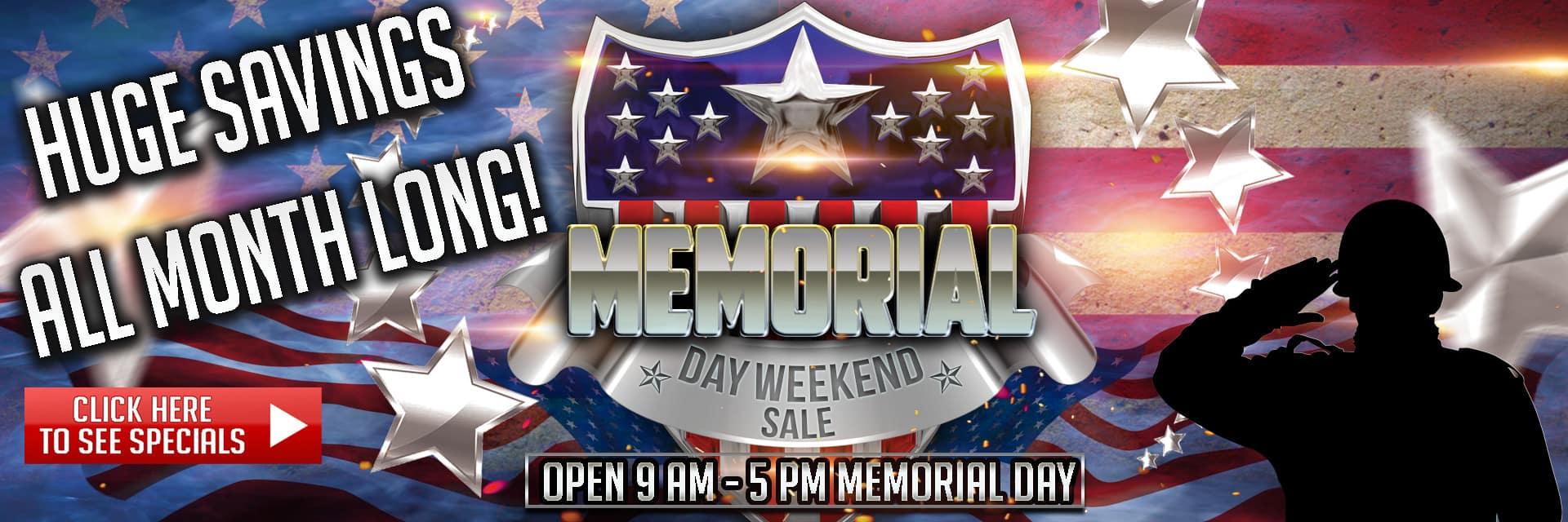 Memorial Day Weekend Sale in Maquoketa IA