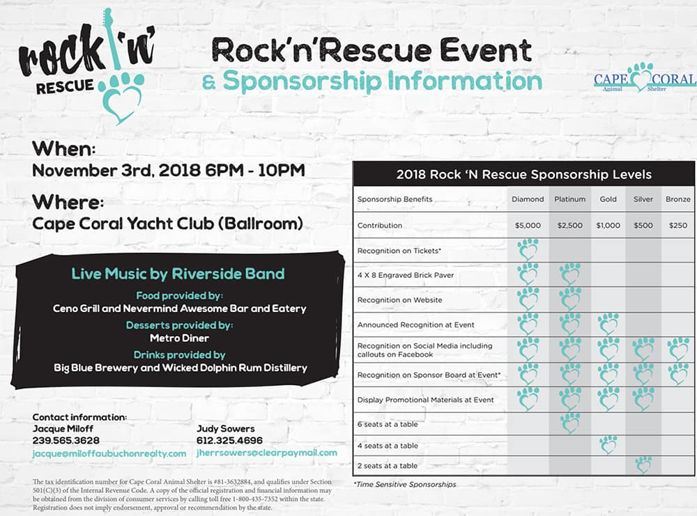 Cape Coral CDJR Rock 'N' Rescue Sponsorship