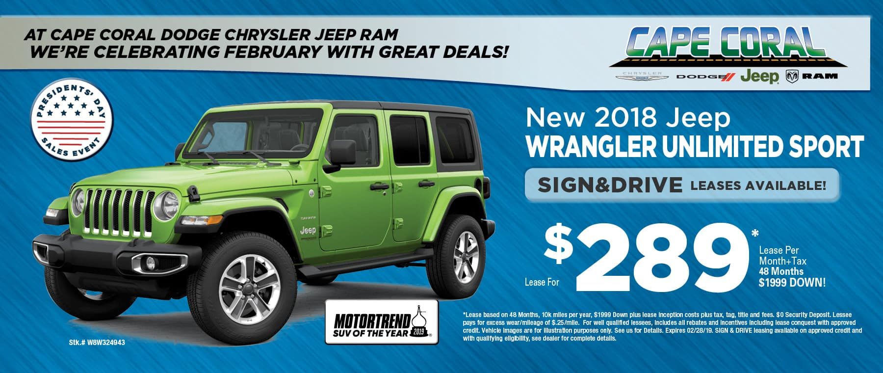 2018 Jeep Wrangler Unlimited! - At Cape Coral Jeep!