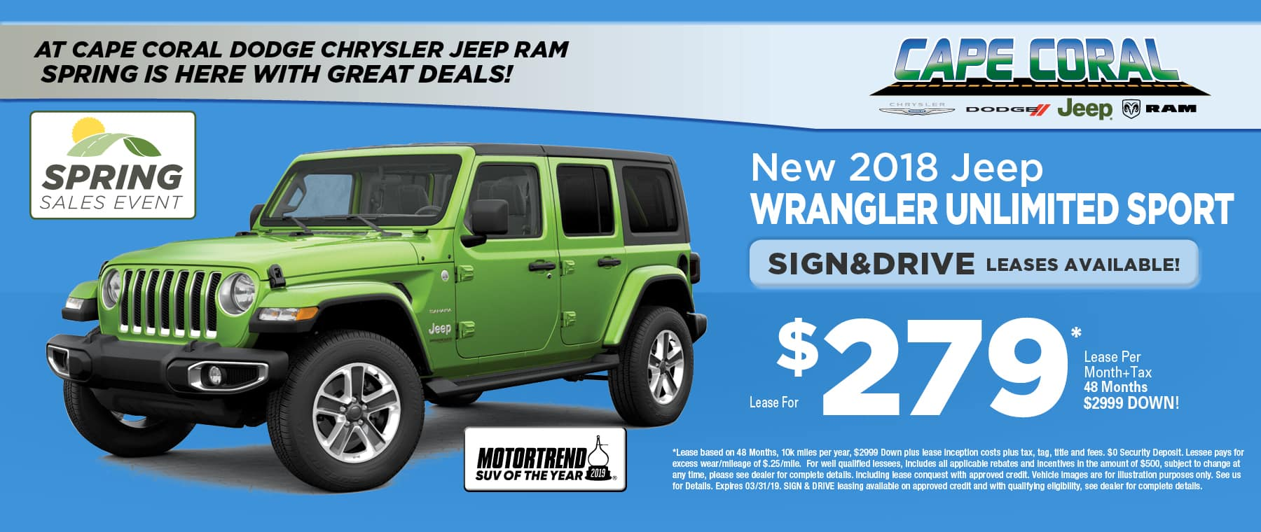 Mototrend's SUV Of the Year - Jeep Wrangler!