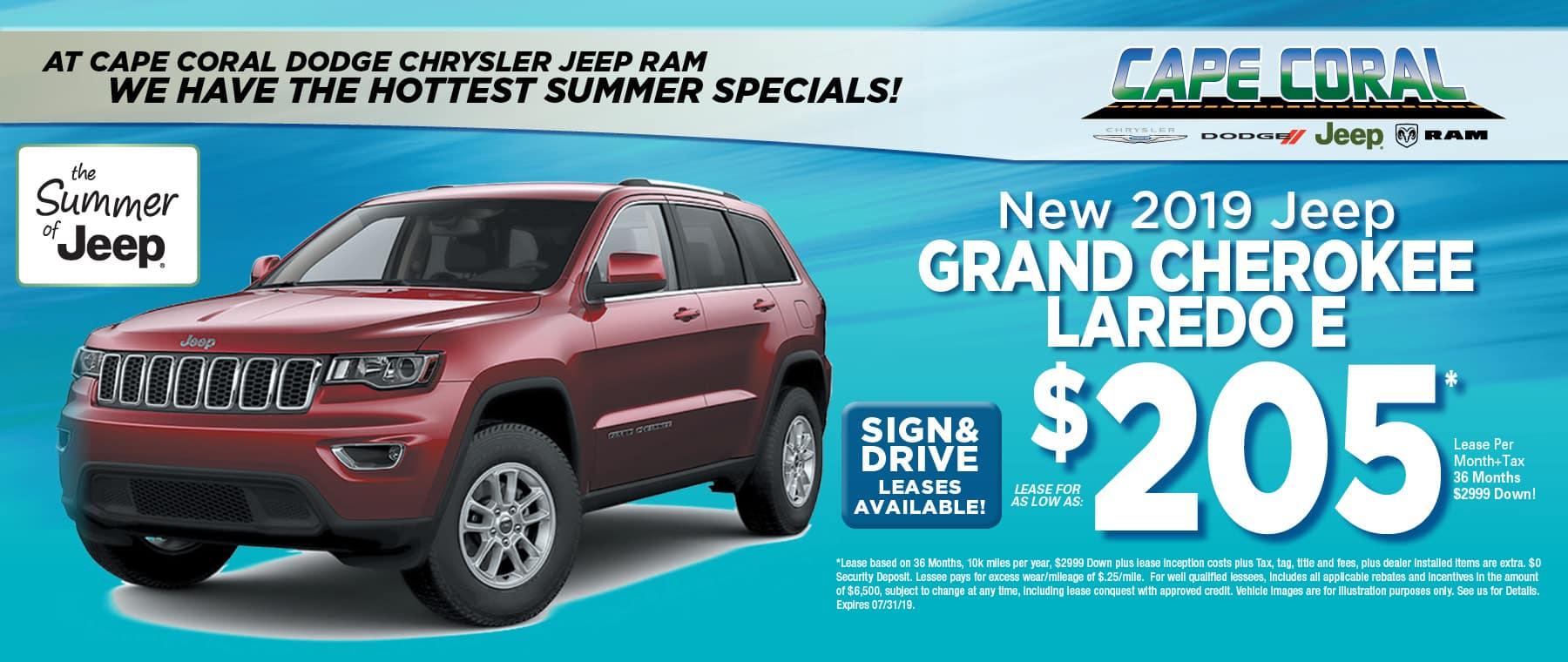 2019 Jeep Grand Cherokees!