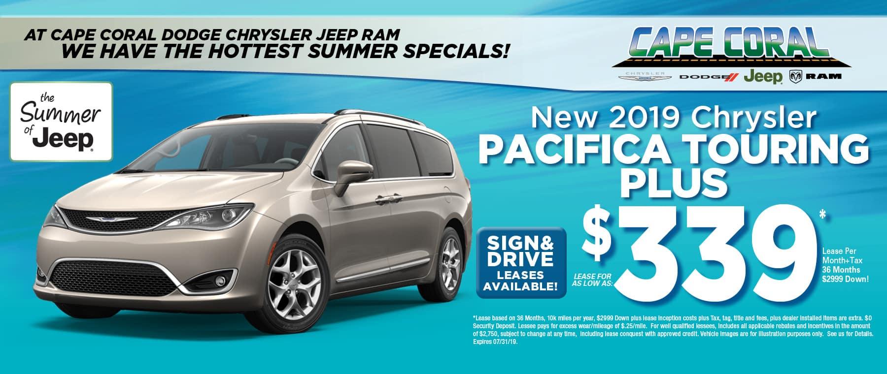 2019 Chrysler Pacificas!