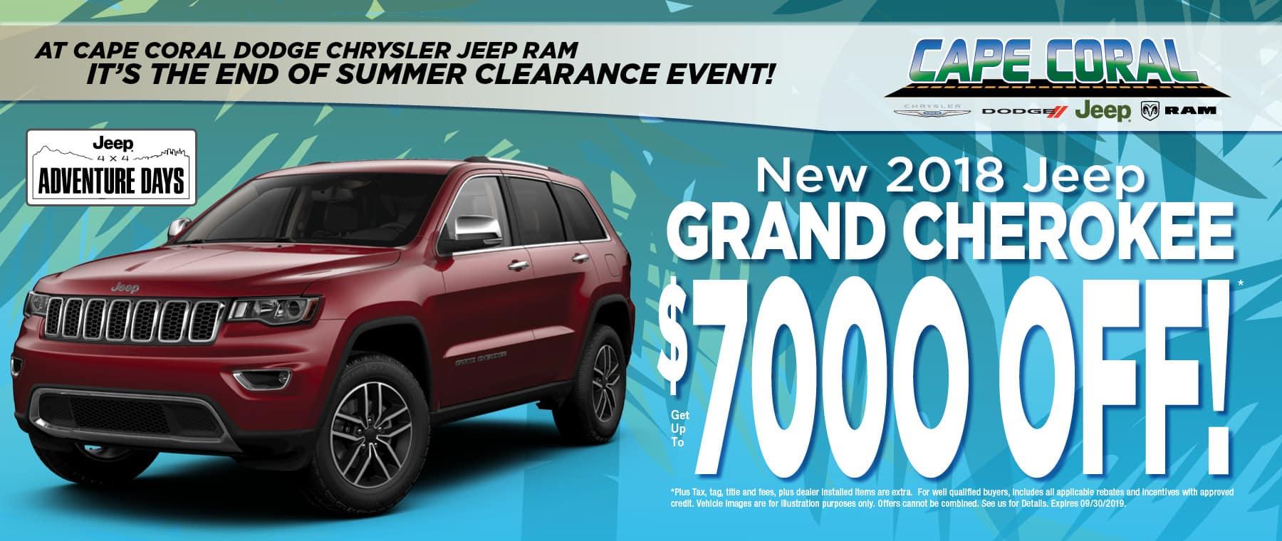 Save on Jeep Grand Cherokees!