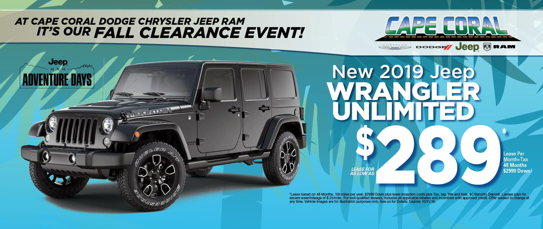 New 2019 Jeep Wrangler Unlimited!
