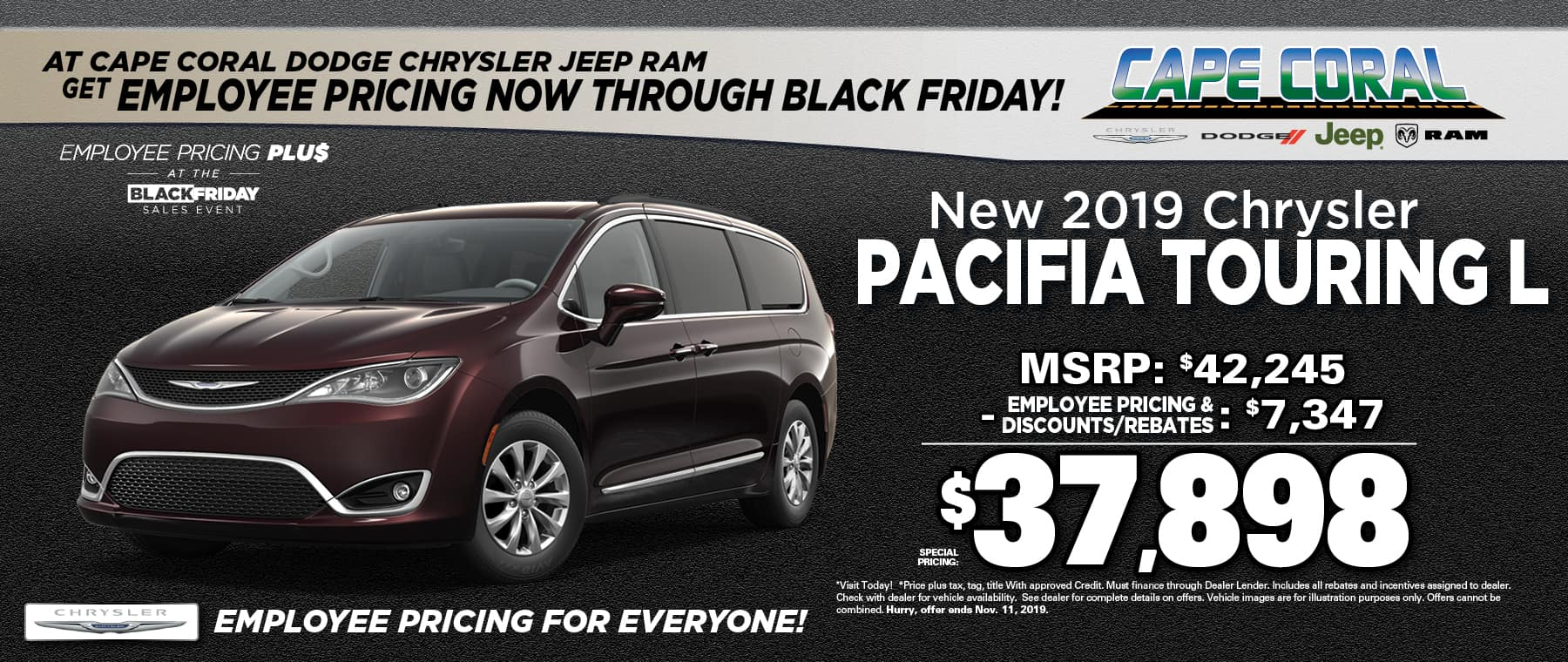 New 2019 Chrysler Pacificas!