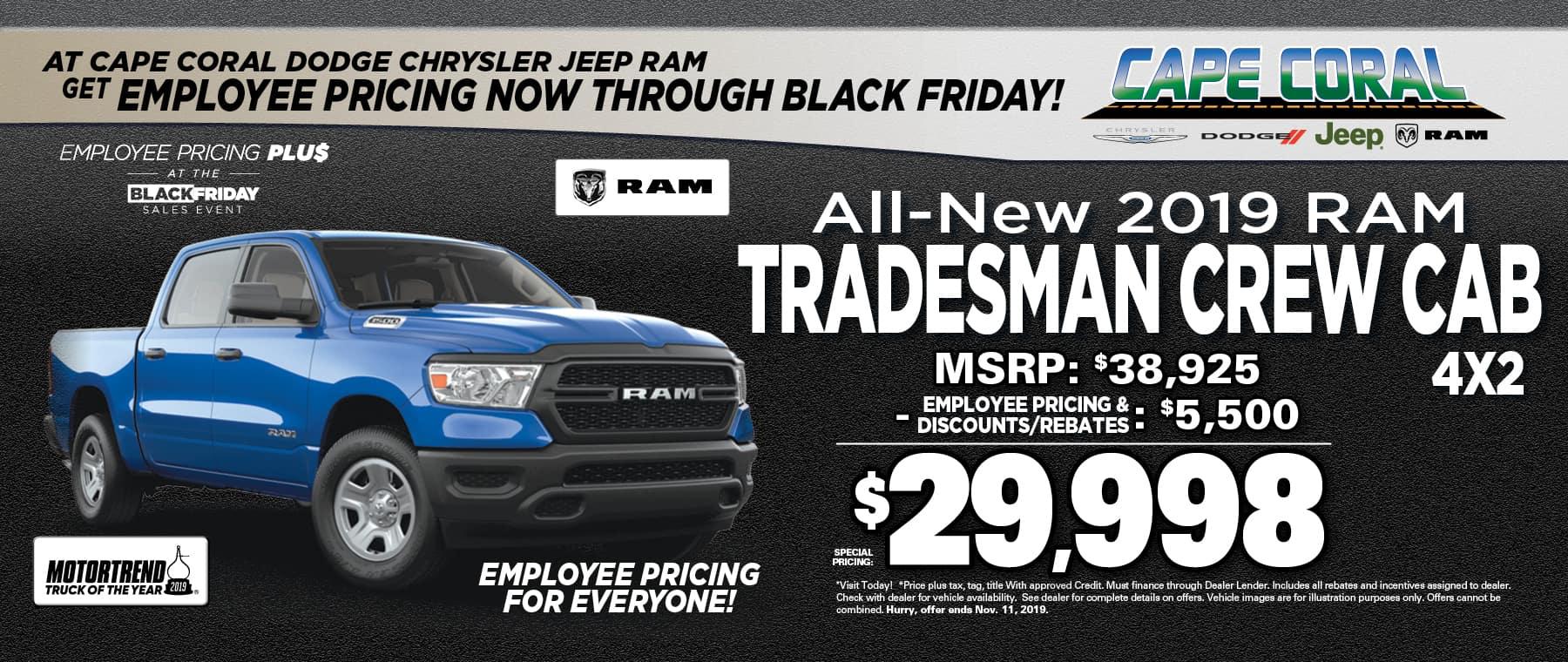 New 2019 Ram Tradesman!