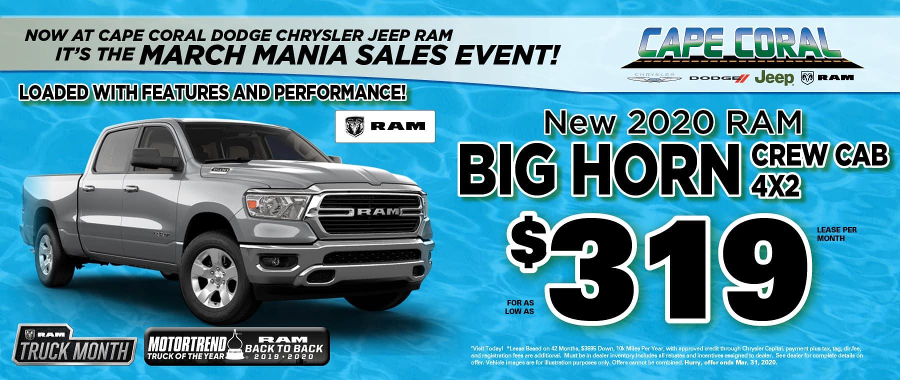 New Ram Big Horn Trucks!
