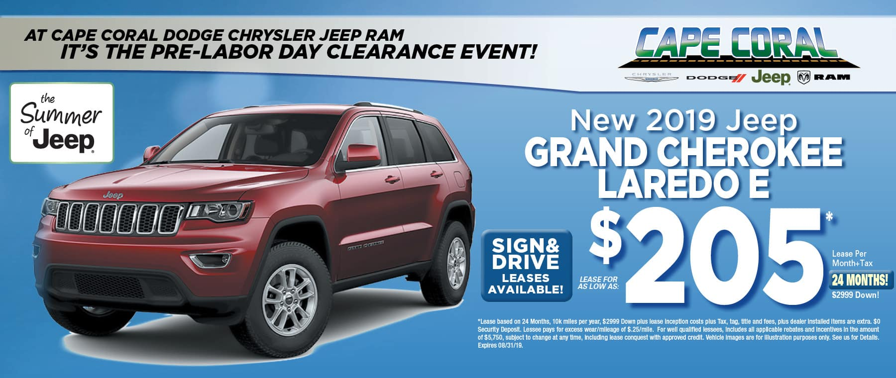 New 2019 Jeep Grand Cherokees!
