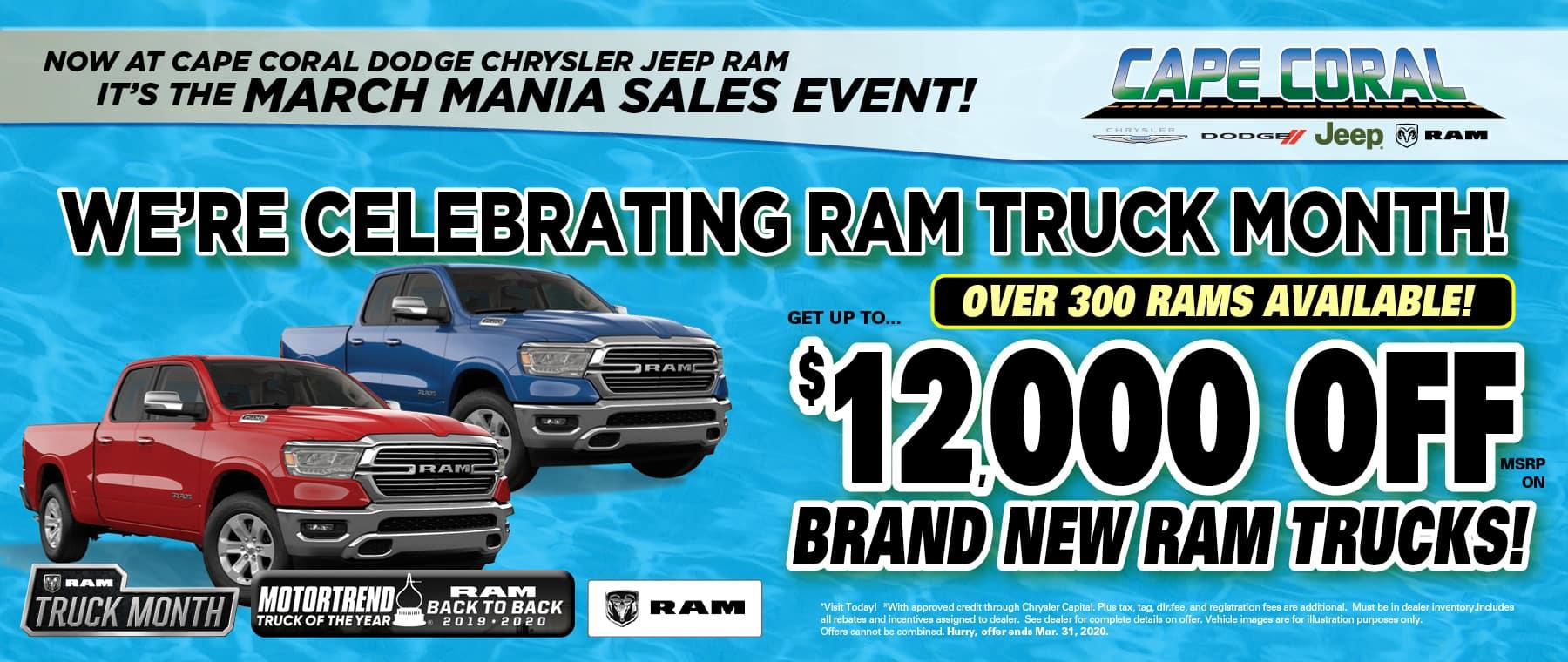 Save On New Ram Trucks!