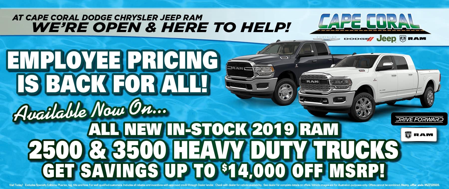 Ram Heavy Duty Specials!