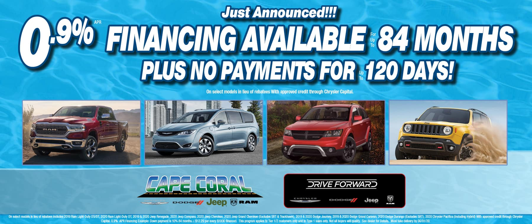0.9% Financing for up to 84 Months!