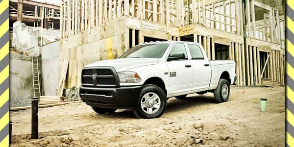 Ram Truck Parked at Construction Site