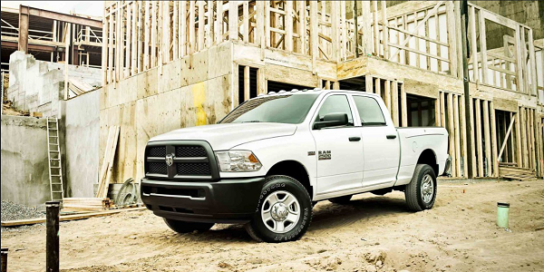 Ram 2500 Parked at Construction Site