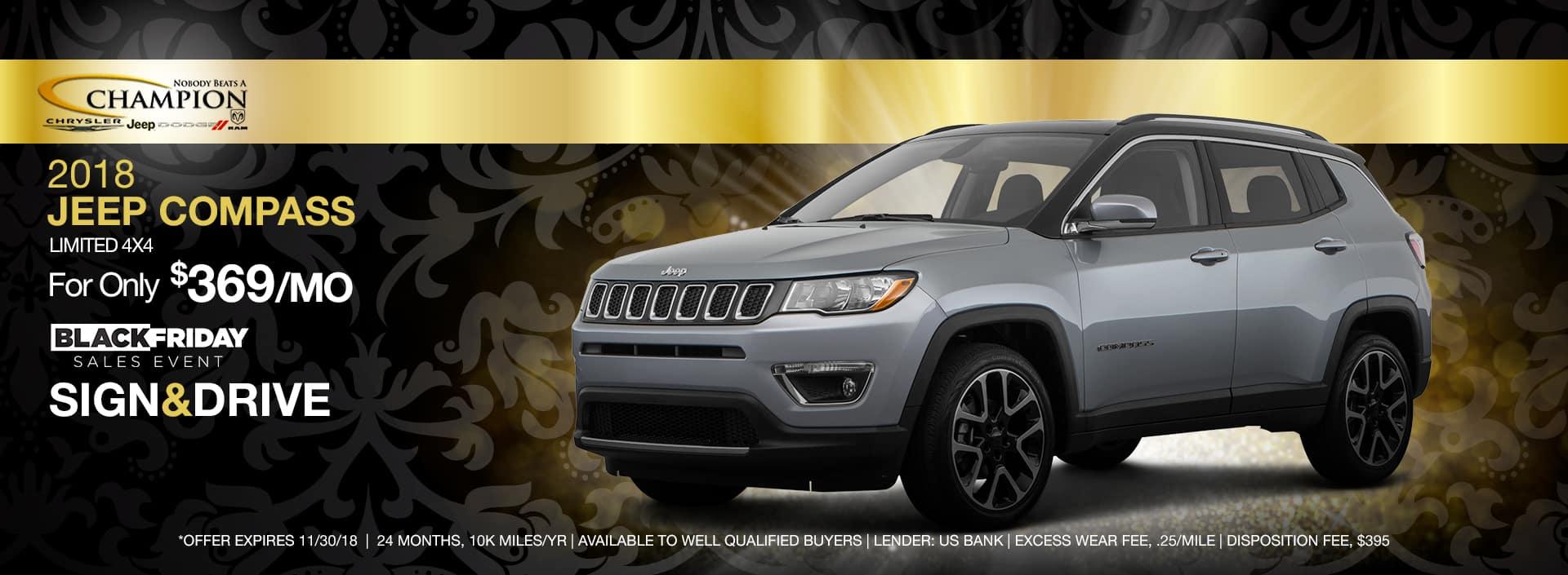 2018 Jeep Compass Black Friday Sale