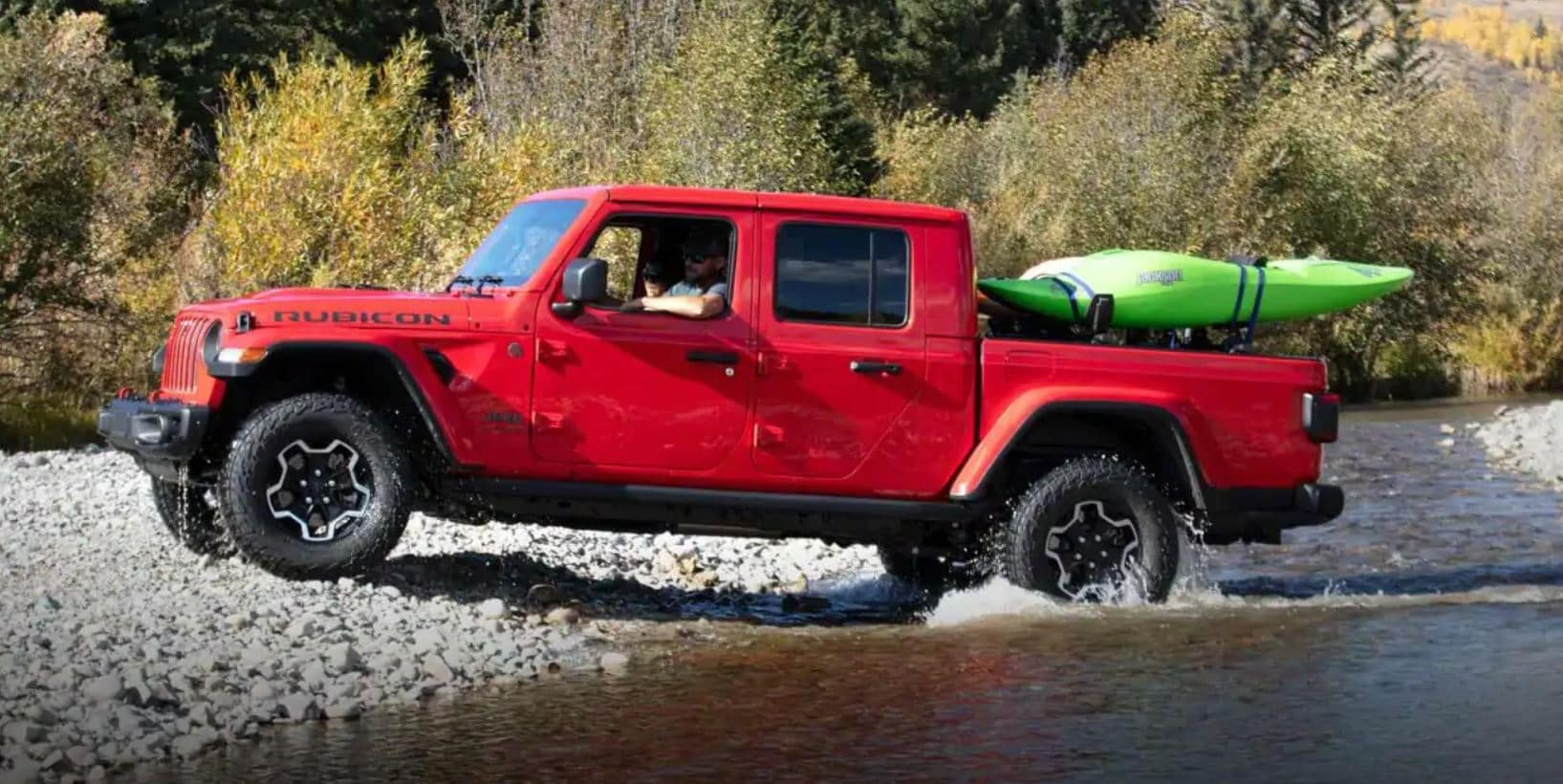 2020 Jeep Gladiator in water