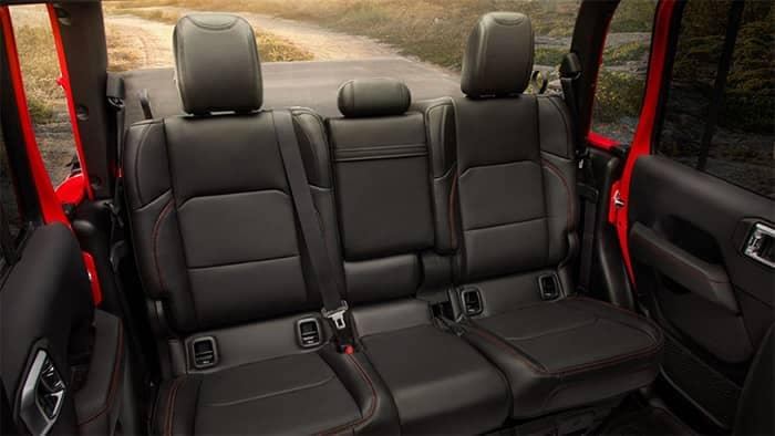 2020 Jeep Gladiator Rear Seating