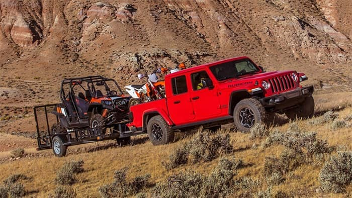 Jeep Gladiator Towing Off Road Vehicle