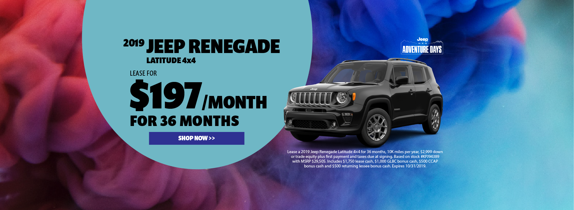 2019 Jeep Renegade Lease Offer