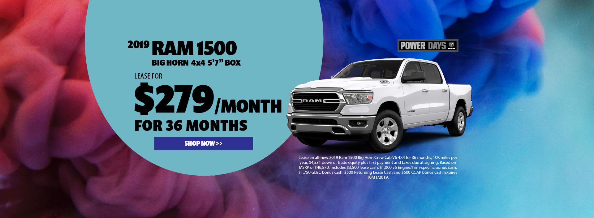 2019 Ram 1500 Lease Offer