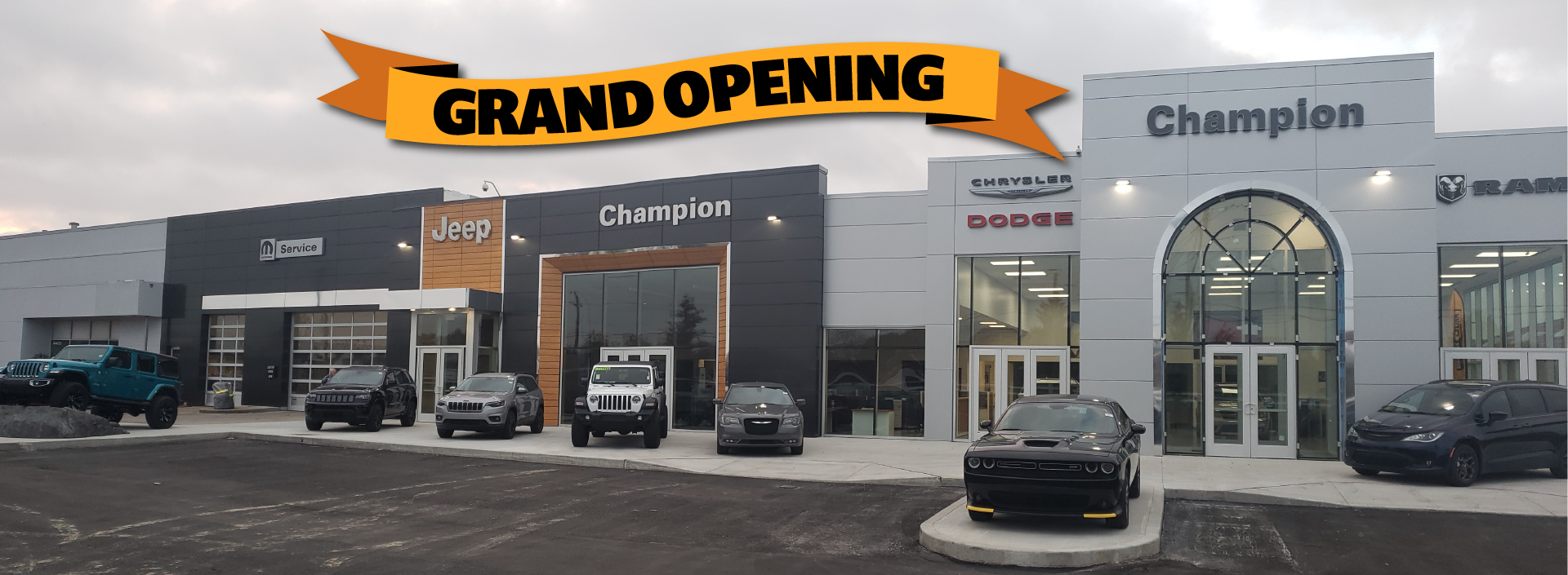 Champion New Storefront Grand Opening