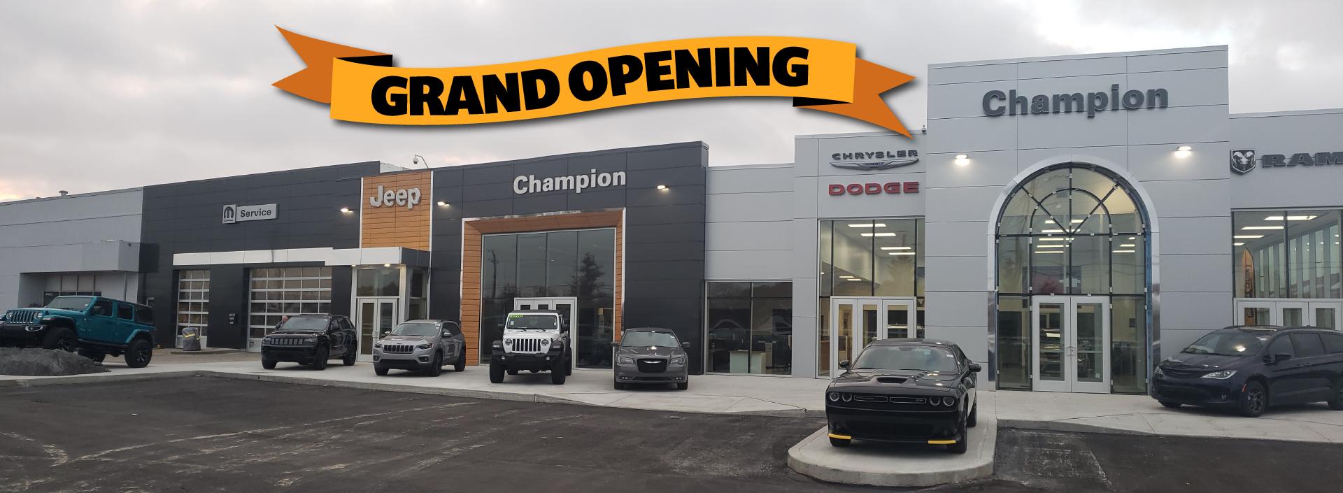Champion New Storefront Grand Opening