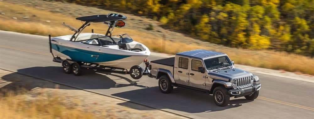 Jeep Gladiator Towing a Boat