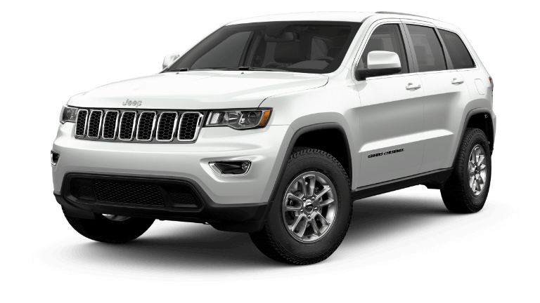 2020 Jeep Grand Cherokee Laredo in bright white.