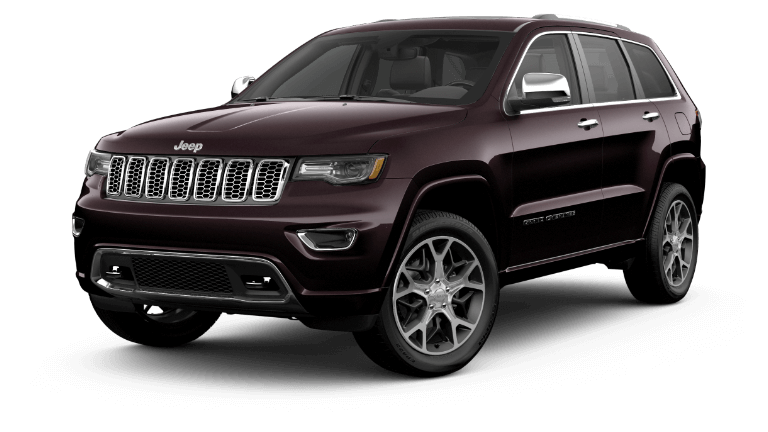 2020 Jeep Grand cheerokke Overland in darj red