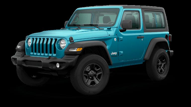 2020 Jeep Wrangler Sport in light blue
