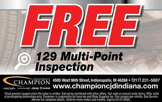 Free 129 Pt. Inspection