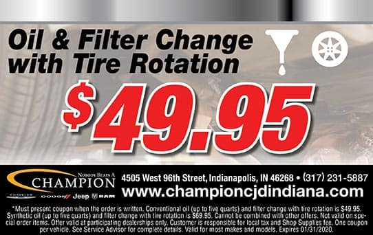 Oil Change with Filter & Tire Rotation