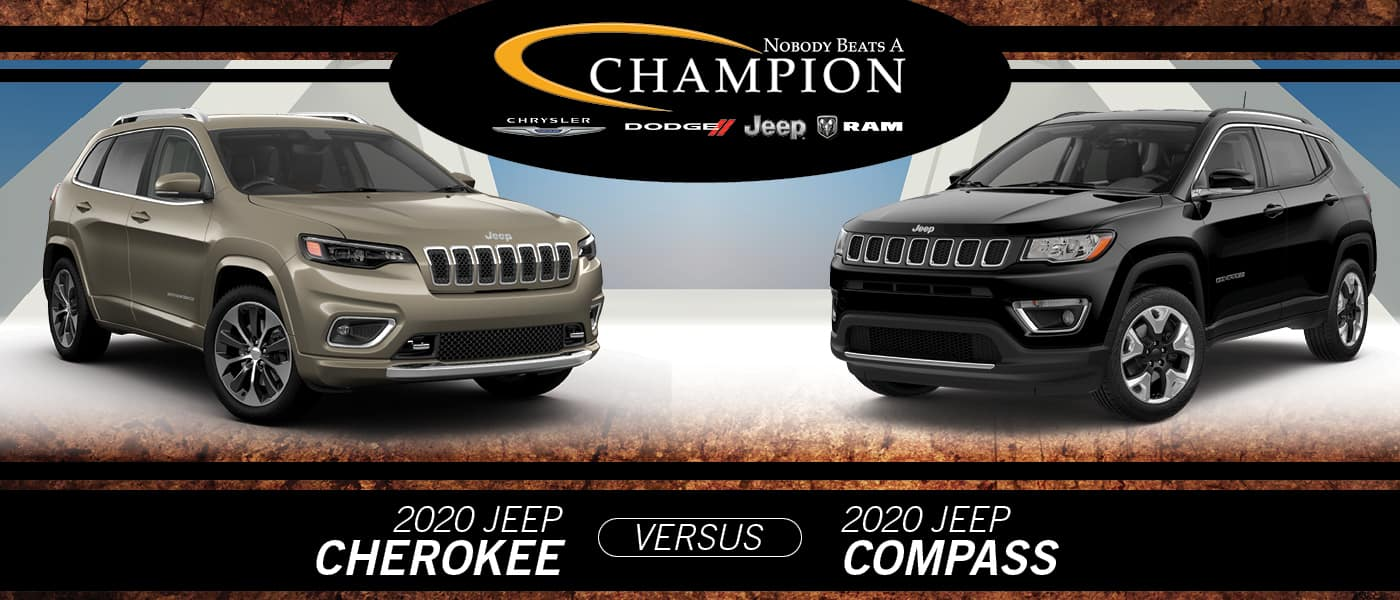 2020 Jeep Cherokee vs. Jeep Compass