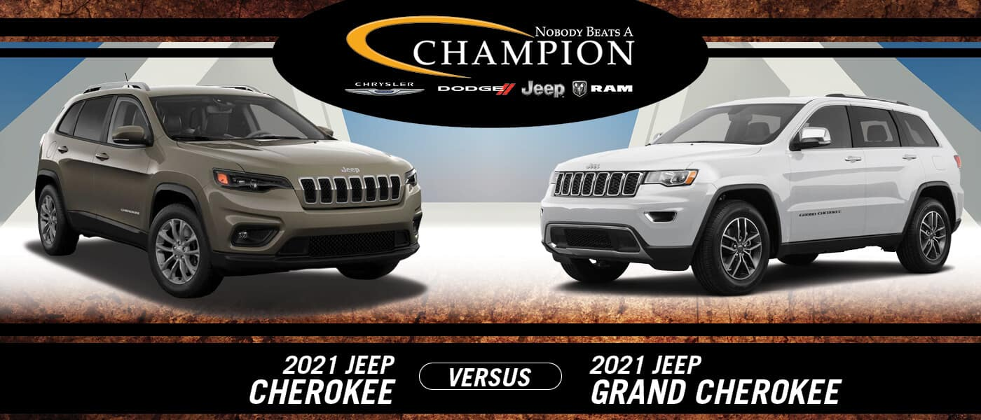 2021 Jeep Cherokee vs. 2021 Jeep Grand Cherokee