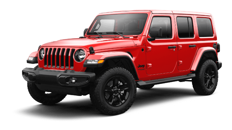 2021 Jeep Wrangler Sahara Altitude Firecracker Red Jellybean
