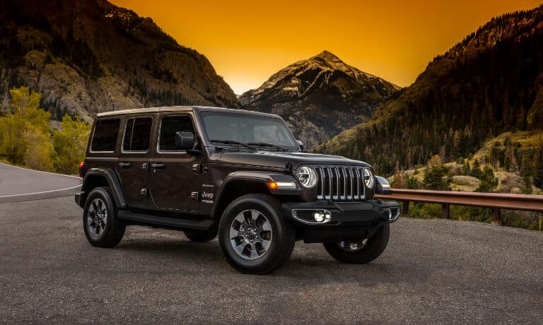 2021 Jeep Wrangler Exterior Sunset Mountains