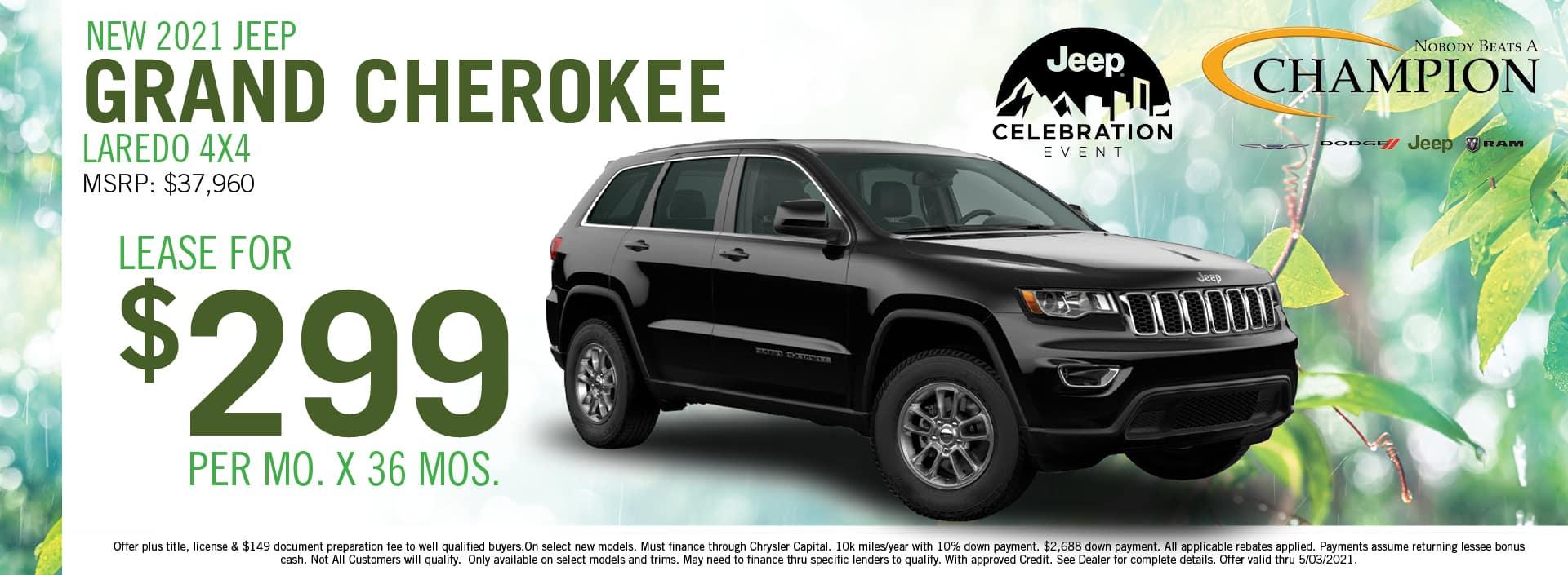 2021 Jeep Grand Cherokee Lease Deals - Champion CDJR